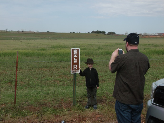 Beale Road signs Custer County Okla.