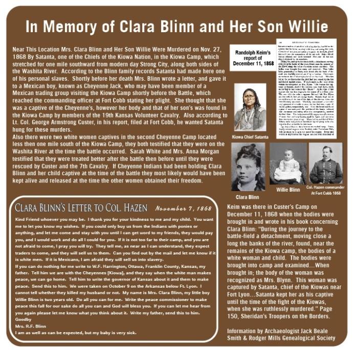 Clara Blinn Battle of the Washita